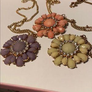 Flower Pendant Necklaces Bundle